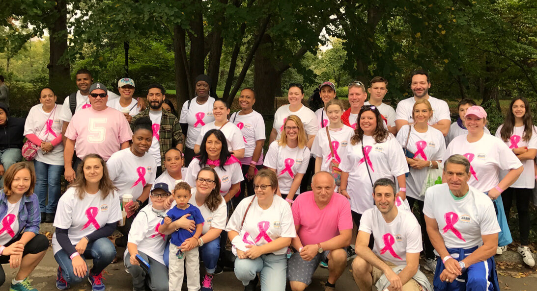 Akam team at NYC Breast Cancer Walk Oct 2017