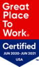 great place to work certificate badge
