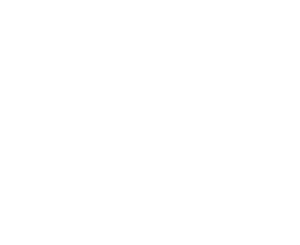 akam logo in green and gold