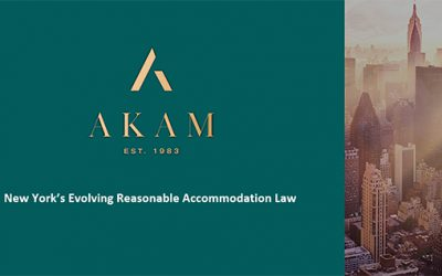 AKAM Discusses NY's Reasonable Accommodation Law